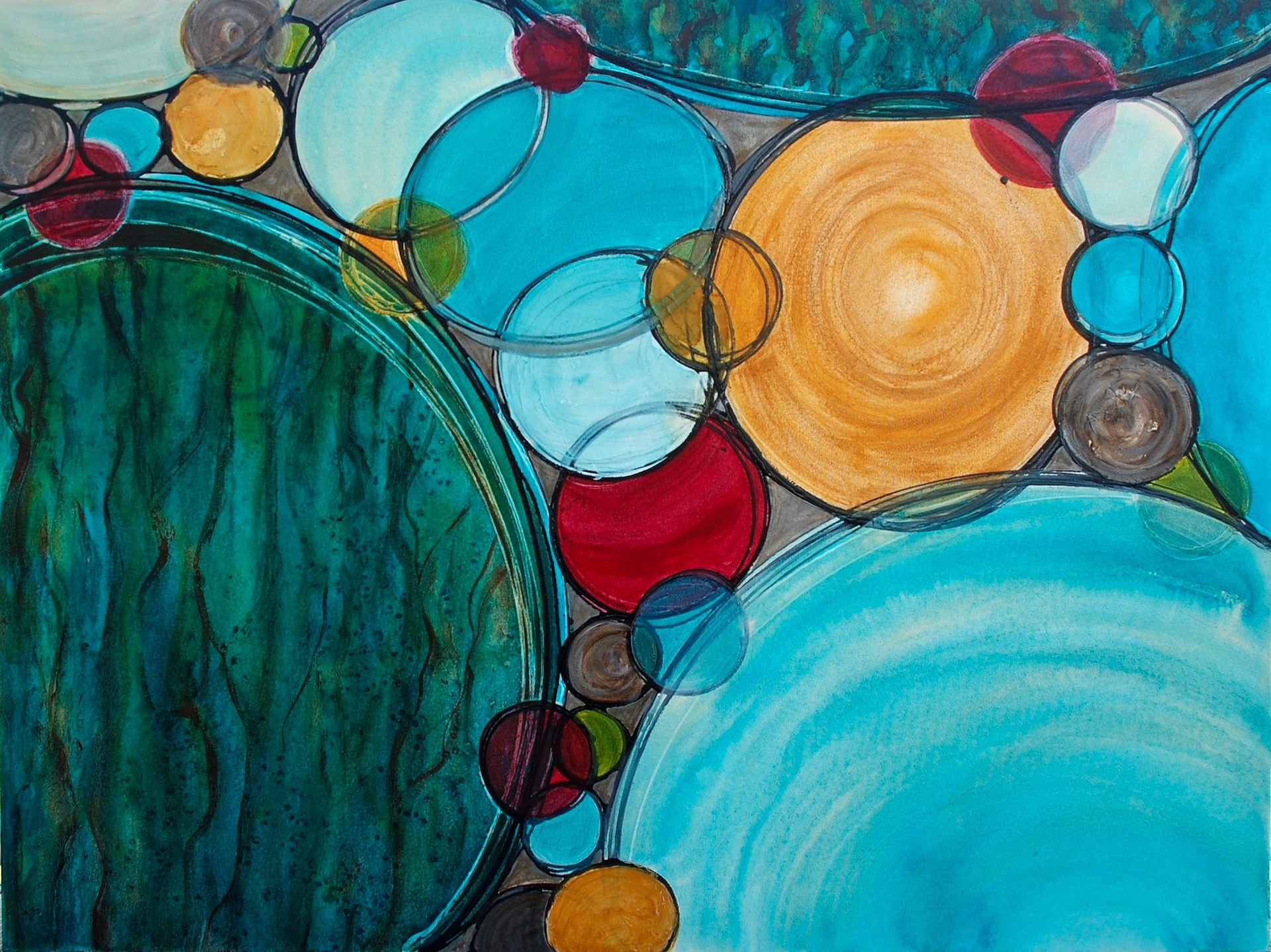 Spheres of Connection 36 x 48