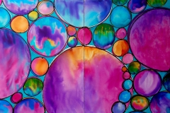 Spheres of Completion 40 x 60 Diptych