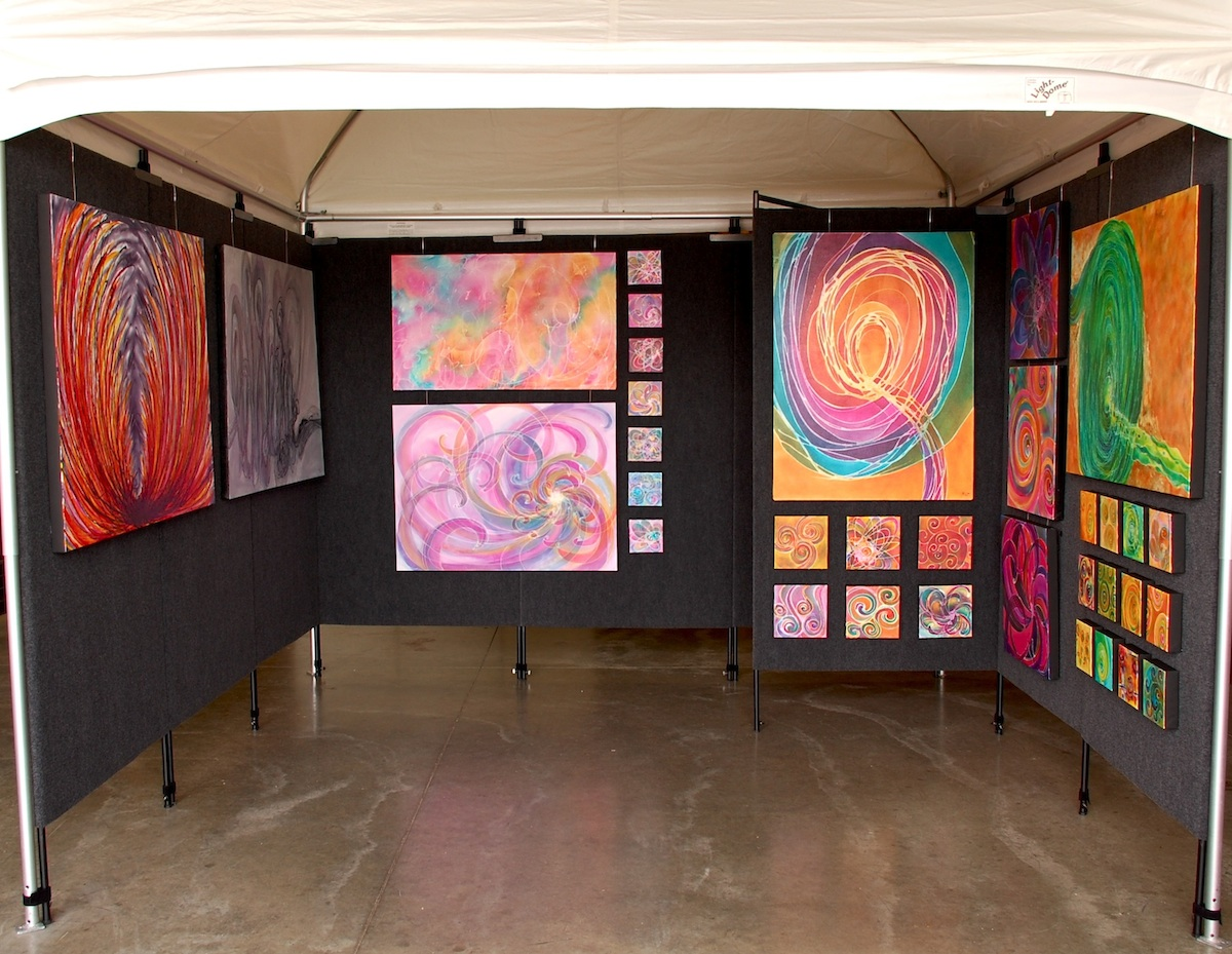 Art fair booth melynda van zee for Coralville arts and crafts show