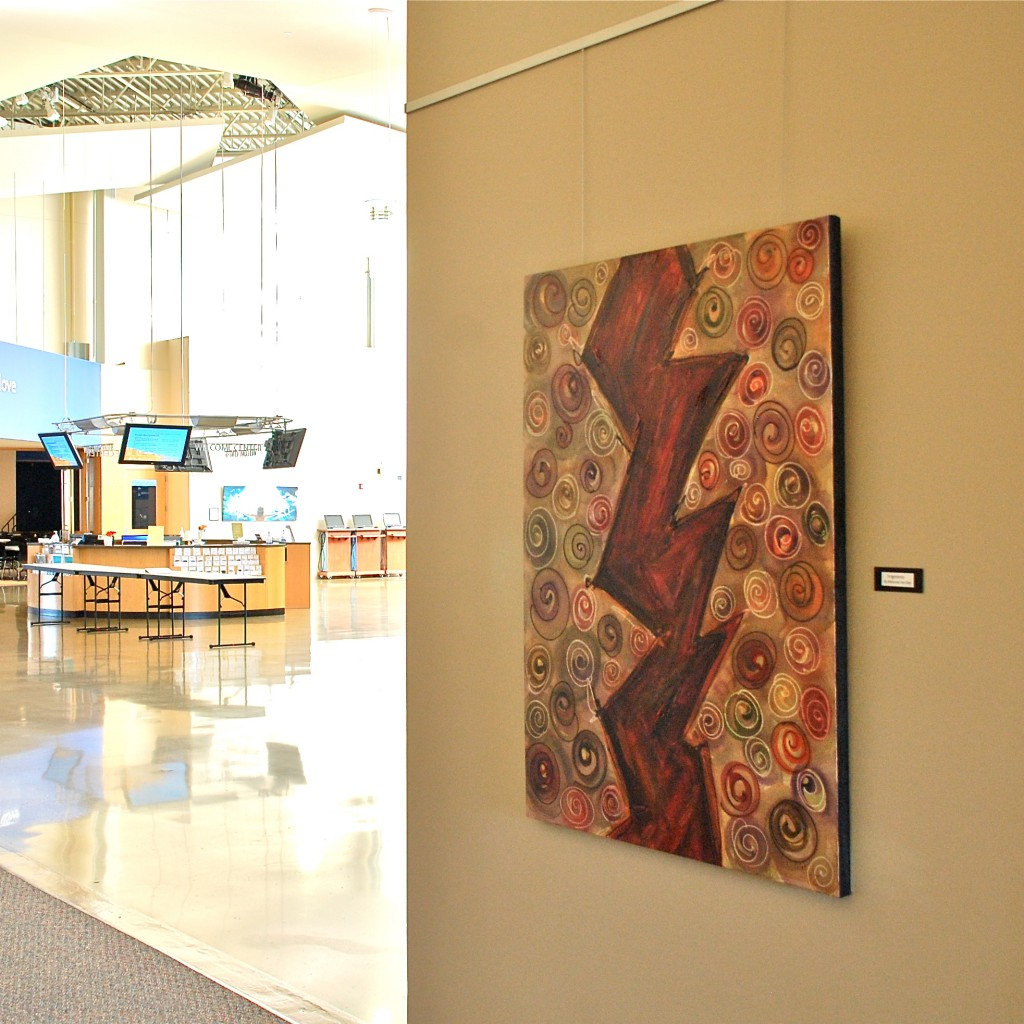 """Fragments"" at Art Exhibit -Lutheran Church of Hope"