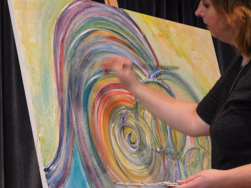 """""""Create Inside Out"""" painted live in San Jose, CA"""