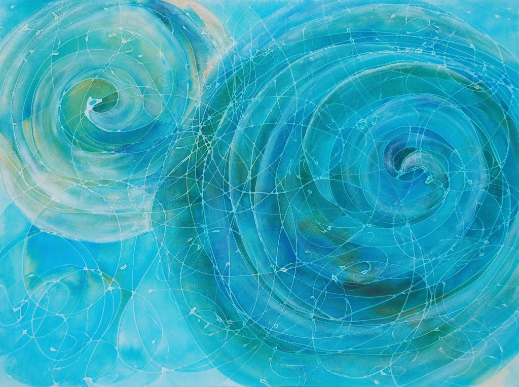 Gravitational Waves by Melynda Van Zee 36 x 48 Acrylic on Canvas