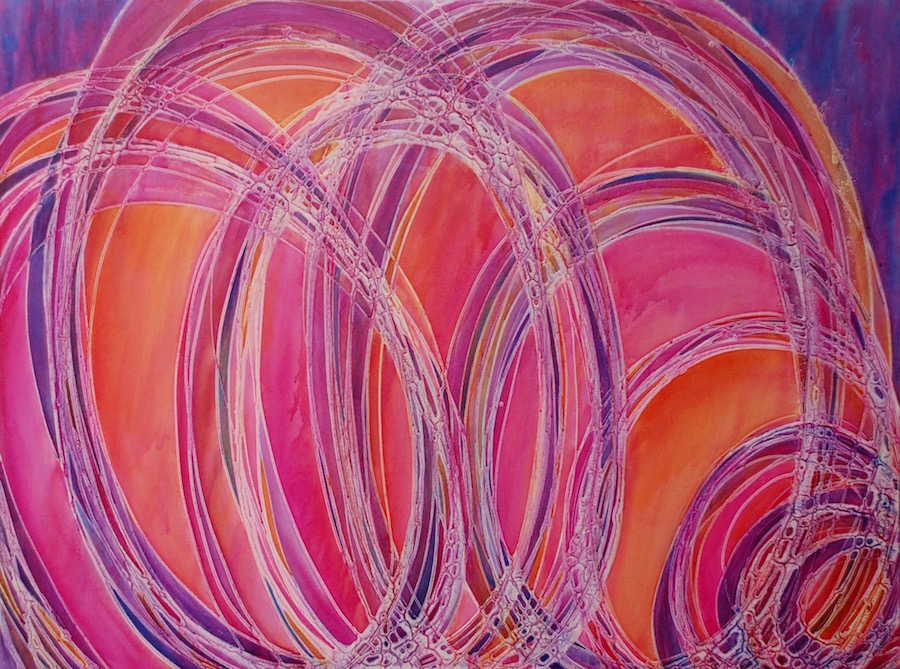 Emerging Through 36 x 48 Acrylic on Canvas Melynda Van Zee © 2016