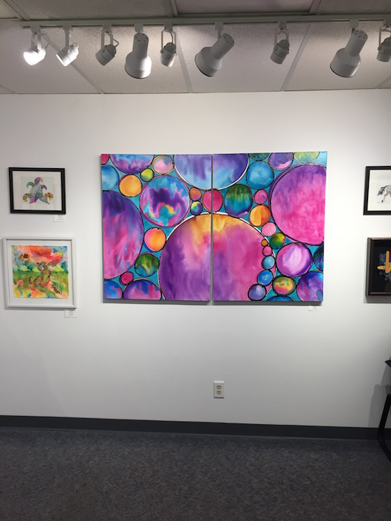 """Spheres of Completion"" by Melynda Van Zee at Ankeny Art Center Ankeny, IA"