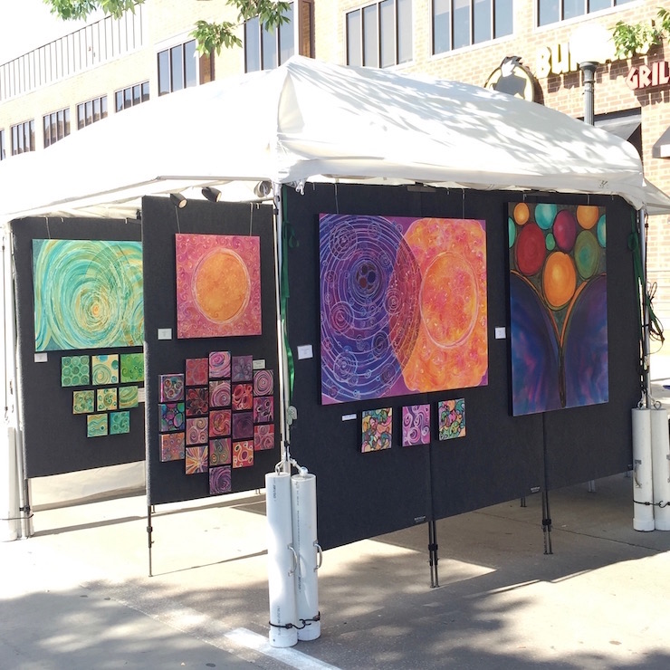 Melynda Van Zee Art Booth Iowa Arts Festival Iowa City, IA June, 2017